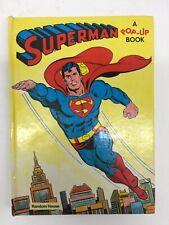 Superman A Pop-Up Book Vintage 1979 Children's Hardcover Book FN/VF Random House