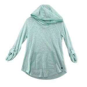 Calvin Klein Performance Pullover Soft Hood Green White Comfy Cool Womens Small