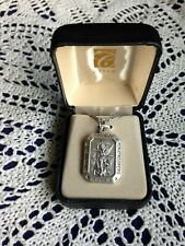 """CREED """"ST. MICHAEL PARATROOPER  MEDAL"""" Stainless  24"""" Chain, Boxed  NEW-SO9944"""