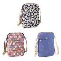 Womens Cell Phone Crossbody Wallet Cute Shoulder Bag Handbag Canvas Purse Pocket