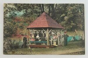 Postcard Family at the Summer House Gazebo Delaware Water Gap Pennsylvania