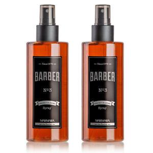 2x Marmara Barber Aftershave Spray Cologne No-3 Eau De Cologne Brown 250 ml