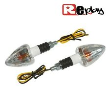 2 CLIGNOTANTS REPLAY MINI TRIANGLE UNIVERSEL TRANSPARENT/NOIR MAXISCOOTER