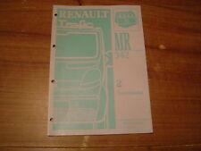 MANUEL DE REPARATION RENAULT TRAFIC MR 342 TRANSMISSION / EMBRAYAGE / BOITE