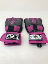 Ringside Gel Shock Women's Boxing/MMA Handwraps - Pink/Black - Medium