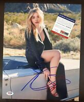 CHLOE MORETZ SIGNED 11X14 PHOTO AUTOGRAPHED Kick Ass Neighbors 2 PSA/DNA COA