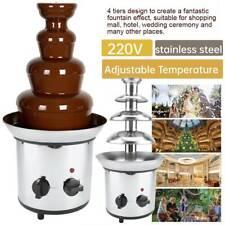4 Tiers Stainless Steel Chocolate Fondue Fountain 2kw Melting Waterfall Machine