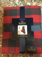 Pendleton Home Collection Luxe Multi Color Throw Blanket 50 X 70 New Rob Roy Red