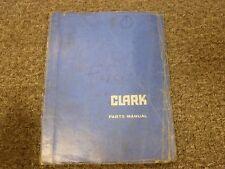 Clark Model IT-40 Forklift Lift Truck Parts Catalog Manual