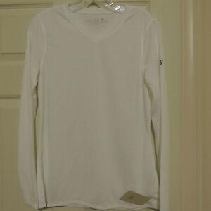 Women's New Balance Long Sleeve Endurance White Tec Shirt New X-LARGE