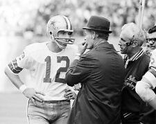 1972 Dallas Cowboys TOM LANDRY & ROGER STAUBACH Super Bowl VI 8x10 Photo Classic