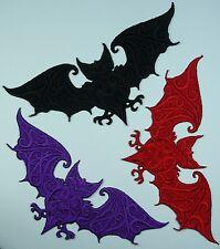 Embroidered Bat Motif / Patch / Badge / Applique / - Goth Gothic Halloween
