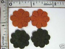 Fake Suede Applique Patch Craft Suede decorative Sew on motif flower patch 8pcs
