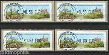 France ATM LISA 1 Phil'Amiens de 2013 Lot de 4 valeurs obli. 1er jour