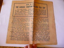 Copy of The Romany Fortune Telling Tea Cup Instruction Leaflet Only Gypsy