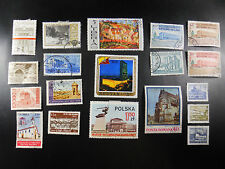 MIXED LOT VINTAGE WORLD POSTAL POSTAGE STAMPS COLOMBIA BELGIUM BHUTAN GREECE