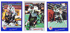 1991 Jogo CFL Ray Elgaard SASKATCHEWAN ROUGHRIDERS SIGNED CARD HOF'ER H