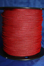 3' BCY Red & Black Speckled D Loop Material  Bowstring Rope Drop Away Cord