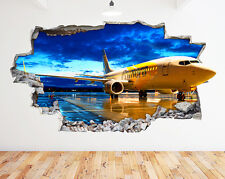 Avión Avión niños Enfriar rota pared D pegatina pared vinilo 3d habitación niños