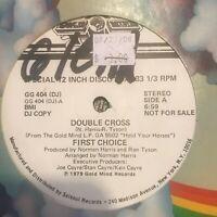 "First Choice – Double Cross Vinyl Record Soul Funk Disco Rare DJ Promo 12"""