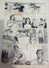 "HORACIO ALTUNA ORIGINAL ART PAGE COMIC ""GAUGUIN LIFE"" ARGENTINA 80s TOUTAIN"
