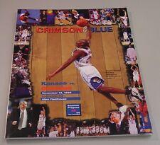 KU Jayhawk Basketball Program - Gonzaga Nov 13, 1998