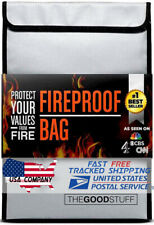 2000℉ Fireproof Waterproof Legal Document Money Safe Bag Cash Passport Documents