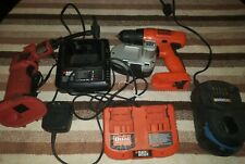 Dual Black and decker 18v battery charger, power tool lot ( great )