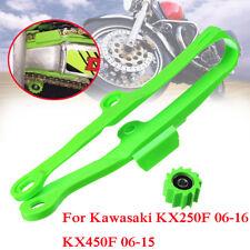Chain Slider W/ Lower Roller Green Fit For Kawasaki KX250F 06-16 KX450F 06-15