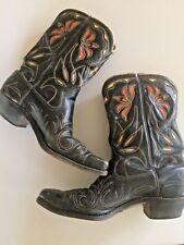 Vintage ACME Inlay Cowboy Boots