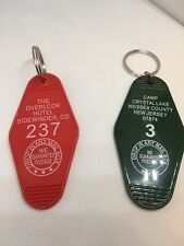 Lot Of 2 Key Chains # 3 Camp Crystal Lake Friday the 13th Shining Overlook Hotel