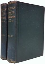 Charles DARWIN Variation Of Animals and Plants Under Domestication 1868 2volumes