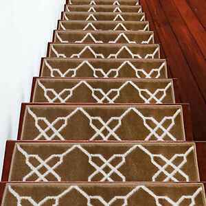 Stair Treads Zigzag Collection Contemporary and Soft Stair Treads Pack of 4/7/13