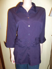 APT 9 PLUS SIZE 3/4 SLEEVE  PURPLE FITTED SHIRT 1X 18/20 NEW