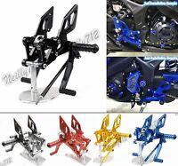 CNC Adjustable Rearset Footrests Footpeg Pedal For YAMAHA YZF R25 R3 MT-25 MT-03