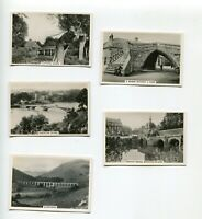 1938 SENIOR SERVICE CIGARETTES  BRIDGES OF BRITAIN 5 CARD LOT
