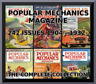 POPULAR MECHANICS MAGAZINE -COMPLETE COLLECTION 242 ISSUES 1904-1932-PDF 4 DVDS