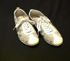Coach Fashion Signature Sneakers  White Shoes Women's Size 6 1/2  M NICE!