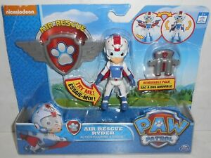 VHTF New 2016 Nickelodeon/Spin Master PAW PATROL: Air Rescue RYDER & Badge RARE