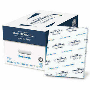 Hammermill Multipurpose 5000 Sheets Printer Copy Paper White 8.5x11 Case 10 Ream