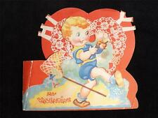 VALENTINE VINTAGE THE LOVE BUG BIT ME DIE CUT MADE IN USA GREETING CARD