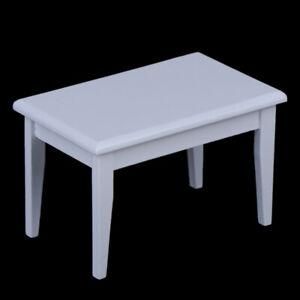 1/12 Dollhouse Miniature White Wooden Table Desk Doll House Accesso lxJ HsJCSE