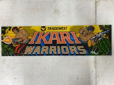 Original 1986 Ikari Warriors Plexiglass Header Marquee Coin Op Video Game