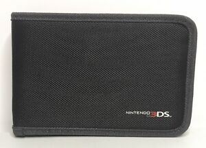 Nintendo 3DS Black Zippered Travel Pouch Carrying Case for Console + Games