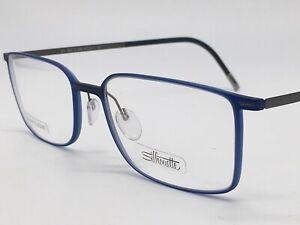 Silhouette 2884 Titanium Blue Silver Matte High End Urban Lite 54-19 Large +