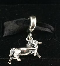 Authentic Pandora Two Tone Silver & 14k Gold Unicorn Dangle Charm 791200