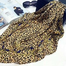Delicate soft satin scarf,70cmx70cm.Leopard design. Free wrapping available