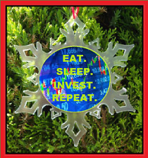 EAT SLEEP INVEST REPEAT CHRISTMAS ORNAMENT - X-MAS ORNAMENT stock market