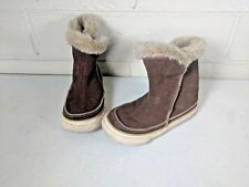 Baby Boy Brown Converse All Star Chuck Tayler Furry Boots Size 8 Infant