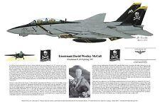 F-14 Art Print Signed by the Pilots, Aviation Art, Ernie Boyette